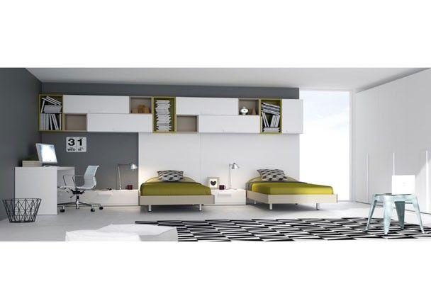 Habitaci n juvenil con 2 camas para dos hermanos for Habitacion juvenil dos camas