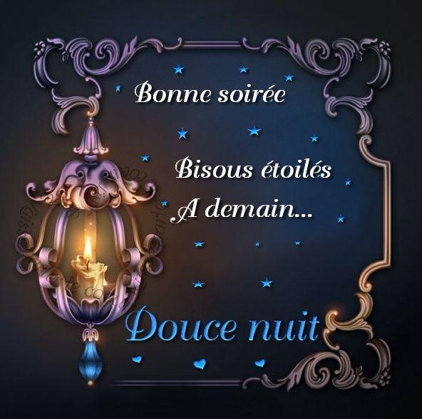 Bonne soirée, Bisous étoiles, À demain... Douce nuit #coucou bonne soiree bougie lanterne