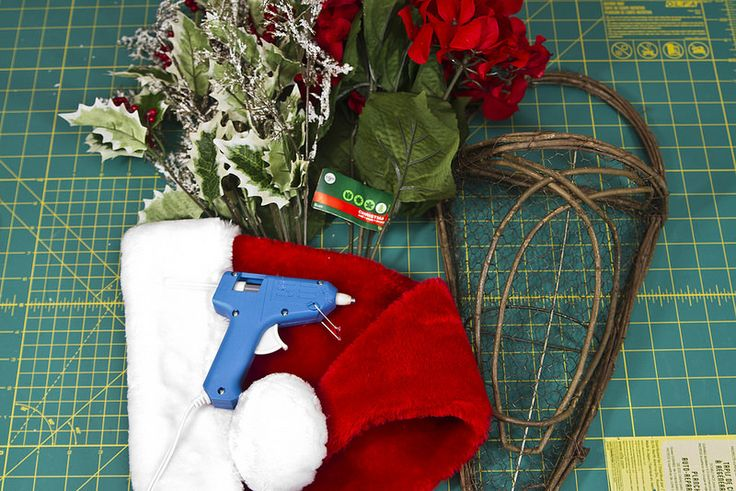 Santa Hat Door Hanging with Flowers | The Spohrs Are Multiplying... | Flickr