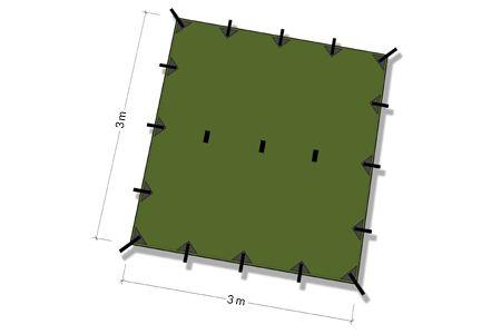 Tarp 3x3 Verde DD Hammocks