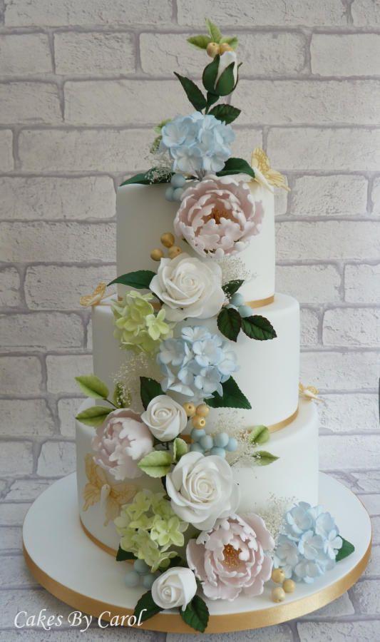 Country Wedding theme by Carol - http://cakesdecor.com/cakes/258461-country-wedding-theme