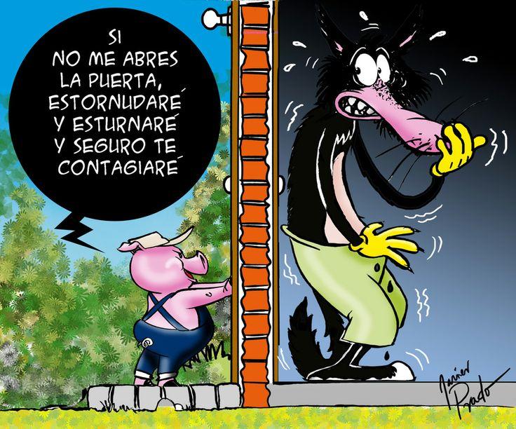La Gripe Porcina, publicado en El Comercio