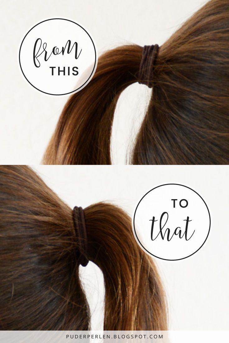 Mit diesem Hairtool bekommt ihr in wenigen Sekunden einen volleren, voluminöseren Zopf! - [Review] Der perfekte Zopf mit Plaitpusher #hair #hairstyle #hairtools #ponytail #zopf #pferdeschwanz | #Puderperlen