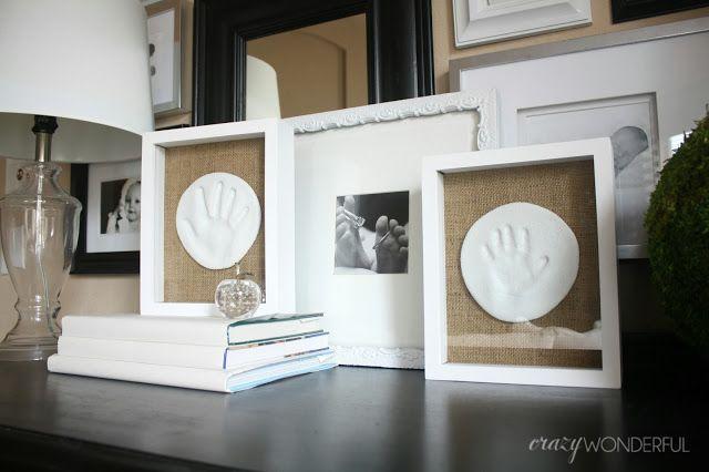 salt dough hand prints.