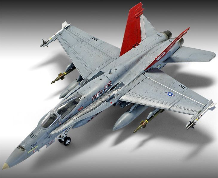 """Academy 1/72 USMC F/A-18+ """"VMFA-232 Red Devils""""   Aircrafts Models   Pinterest   Scale models and Scale"""
