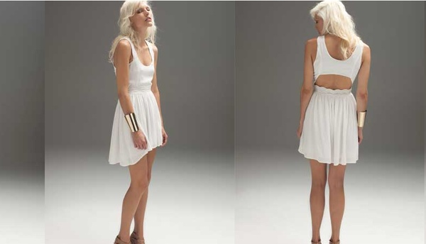 Blessed are the Meek Python dress in ivory. Love the back cut out detail. $149.95