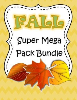 BIG collection of Fall-related Literacy and Math centers and activities for preschool, PreK and Kindergarten