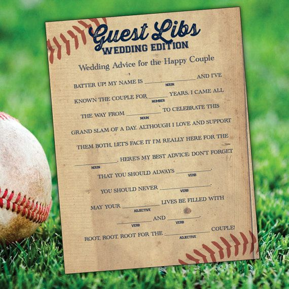 Hey, I found this really awesome Etsy listing at https://www.etsy.com/listing/224985637/baseball-wedding-madlibs-printable
