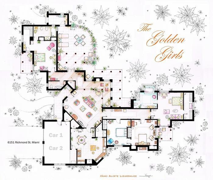 12 best tv show floorplans images on pinterest | apartment floor