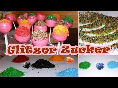 DIY/Bunter Zucker/Glitzer Zucker/Zucker Färben/gefärbter Zucker zum deko...