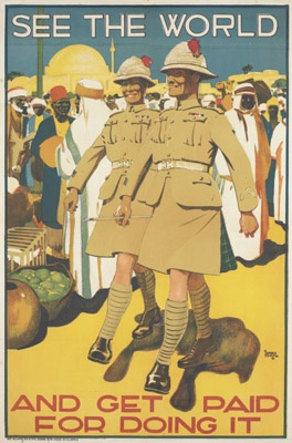 Alfred Leete. See the World. Leete was the artist of the famous 'Kitchener' recruiting poster - http://pinterest.com/pin/158118636887313171/ -  he served in The Artists Rifles.