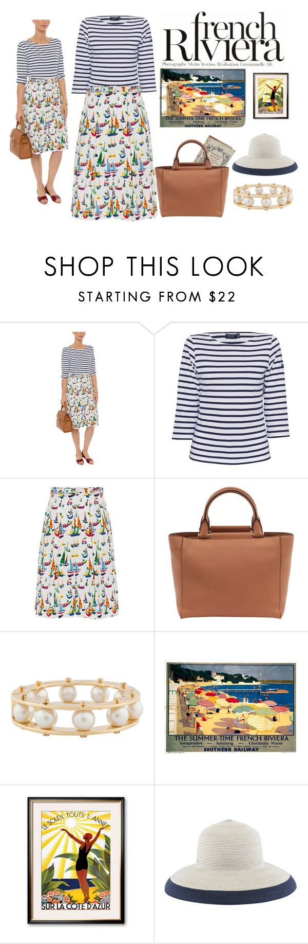 """""""Come Sail Away   French Riviera Style"""" by halsbrook ❤ liked on Polyvore featuring Anja, Saint James, MaxMara, Lele Sadoughi and Inverni"""