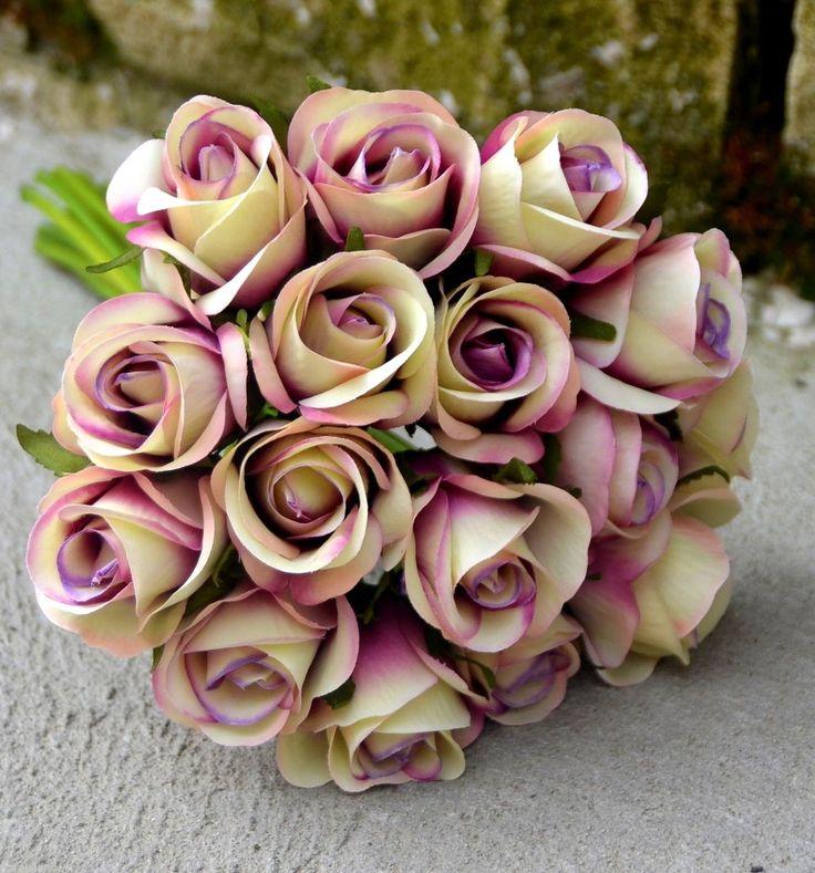 Artificial Wedding Bouquets Liverpool : Details about silk wedding bouquets artificial rose posy