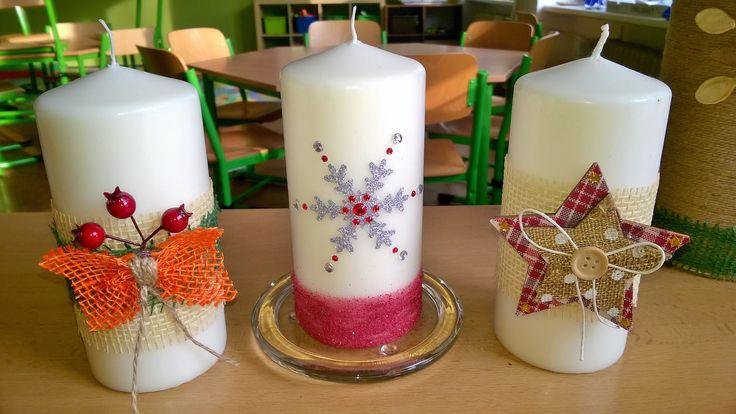 Ozdobené svíčky z Ikee