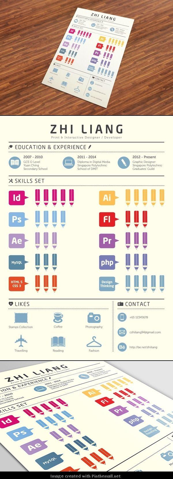 19 besten CV Ideas Bilder auf Pinterest | Kreativer lebenslauf ...