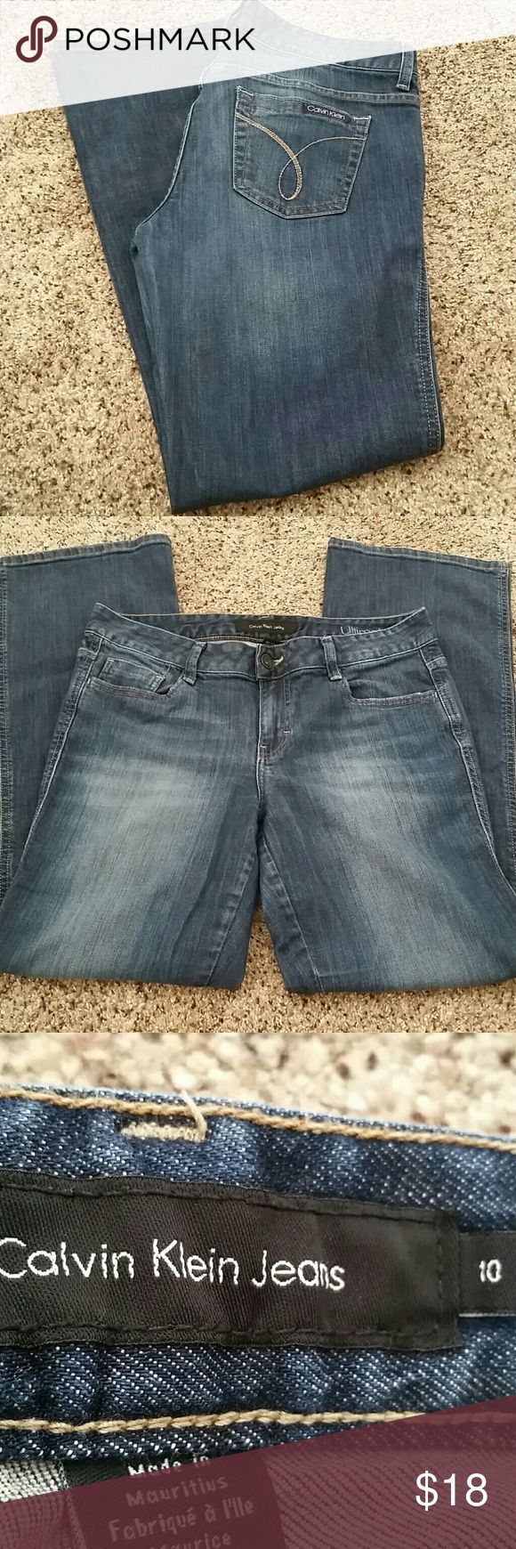 Calvin Klein Boot cut Jeans Calvin Klein Ultimate Boot Jeans.  No rips, holes or stains. Like new. Calvin Klein Jeans Boot Cut