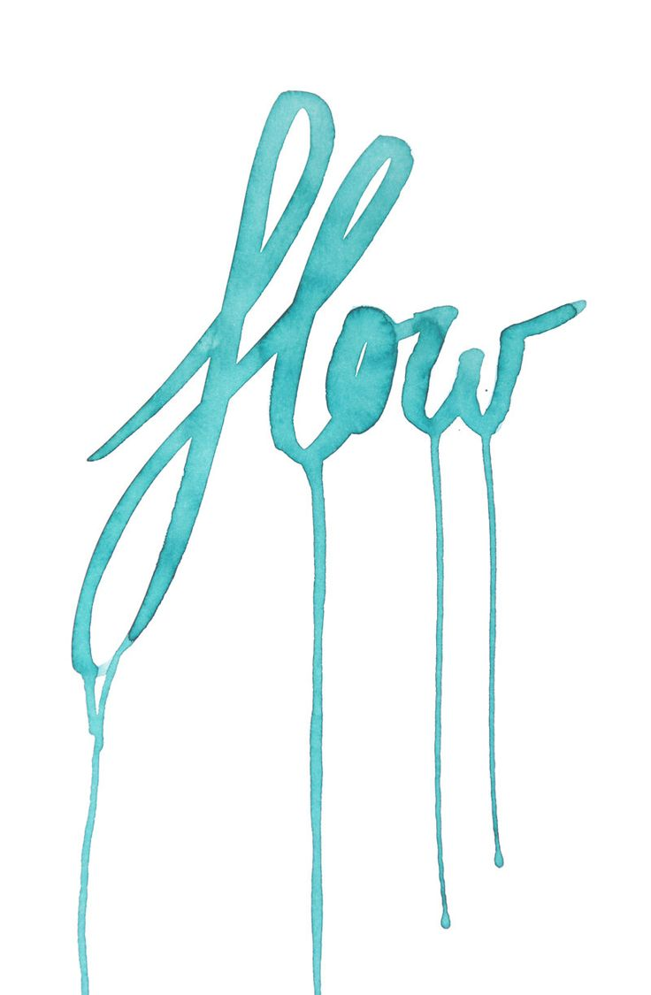 Life, Inspiration, Quotes, Blue, Watercolors, Art, Flow, Typography, Design