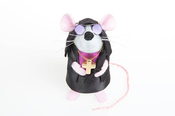 NEW #Ozzy Osbourne Mouse - LIMITED EDITION #HeavyMetal inspired collectable Rock and Roll Music art rat artists mice felt mouse sculpture toy  #etsy #handmade #mouseart #ozzyosbourne #RockandRoll #etsyshop #Artist #artisan #ArtMouse #artrat #rat #cute #adorable #limitededition