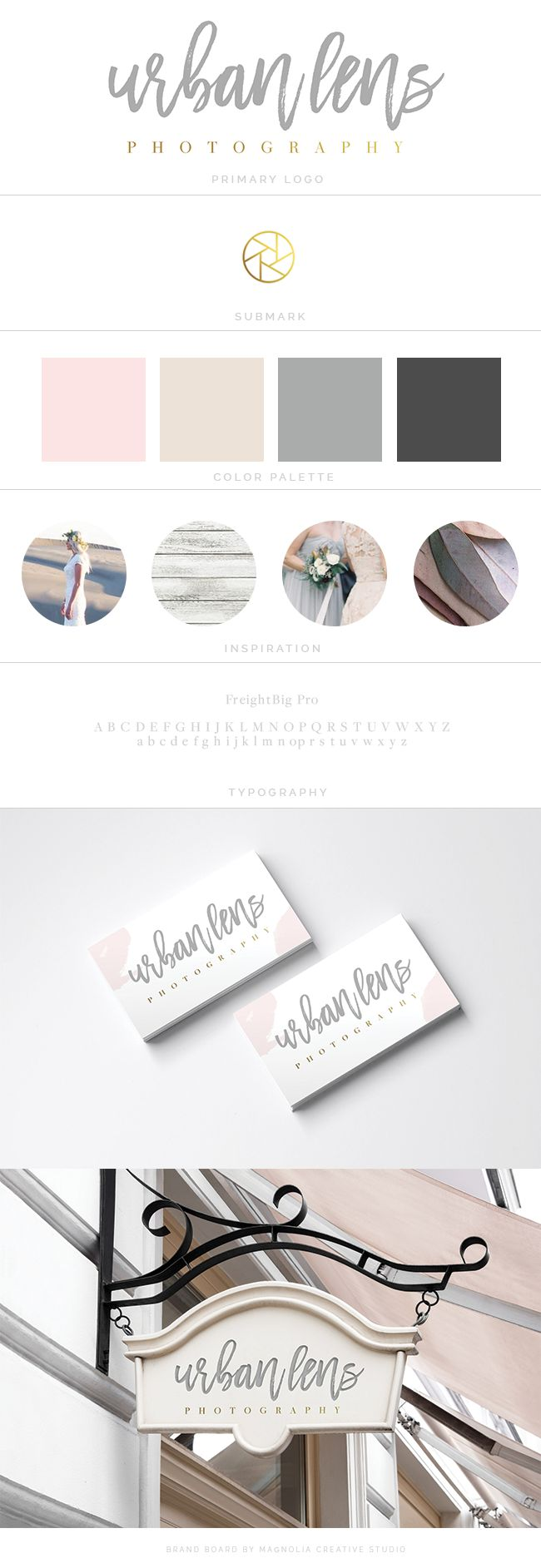Photography logo, brush logo, calligraphy logo, magnolia creative
