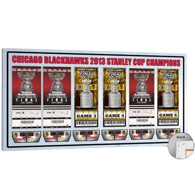 $79.95 Chicago Blackhawks 2013 Stanley Cup Champions Commemorative Tickets to History Canvas Print