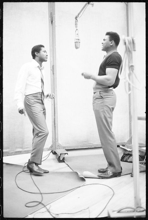 Sam Cooke with his Cassius Clay aka Muhammad Ali