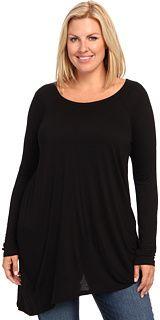 DKNY L/S Asymmetric Hem Drape Top on shopstyle.com