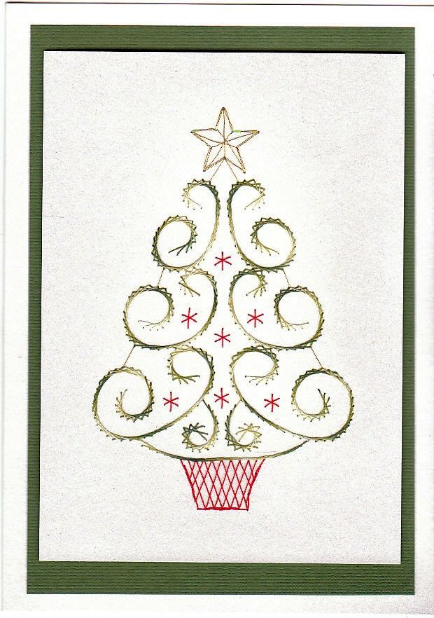 Free Paper Stitching Cards Patterns | loved this tree pattern the moment I saw it. Just something ...