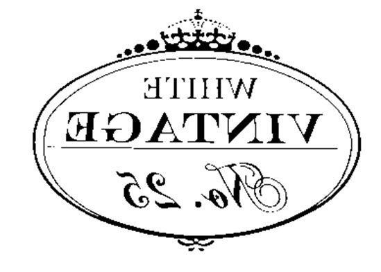 .Etiqueta o postal Vintage blanco y negro para transferir. Vintage label to transfer.