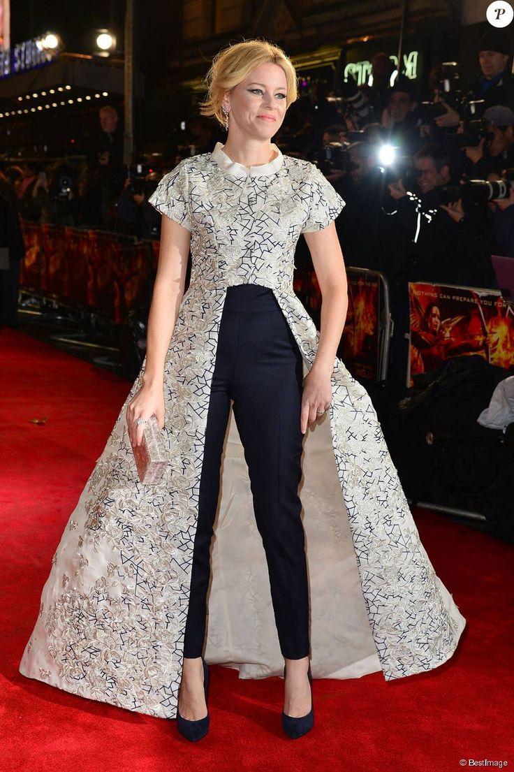 """Elizabeth Banks (robe Razan Alazzouni) - Avant-première du film """"The Hunger Games - Mockingjay: Part 2"""" à Londres, le 5 novembre 2015."""