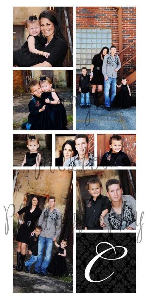 Urban family pictures - like the black, blue, and grey combination