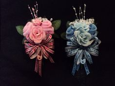 Grandmother Baby Shower Corsages | Baby Shower Gift Rose Sock Corsage Its A Boy/girl Auctions - Buy And ...