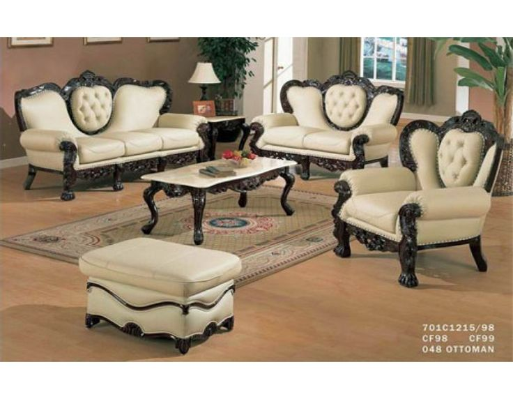 701 Ivory Sofa Set Sofa/Love Seat/ChairSofa Sets