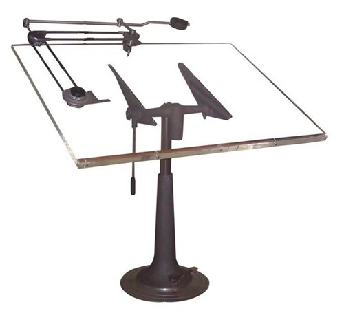 Industrial Nike Drafting Table Ca 1950: Drafting Table / Nike Eskilstuna / Sweden / Circa 1940