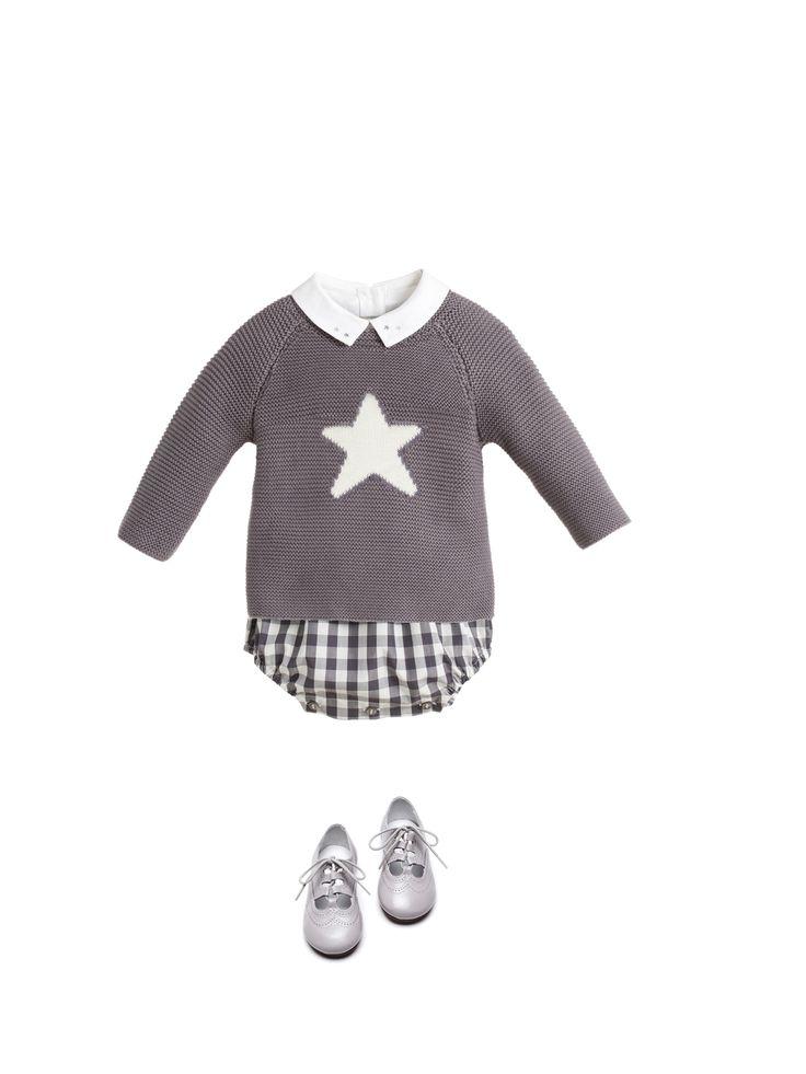 Bonito jersey con estrella en delantero (y ranita a cuadros), inspiración by Nanos.