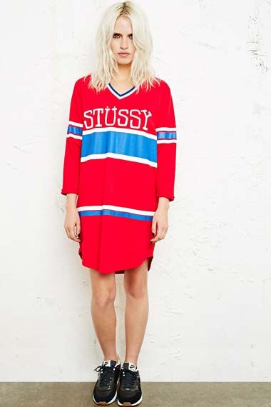 Stussy 1980 Football Jersey Dress at Urban Outfitters