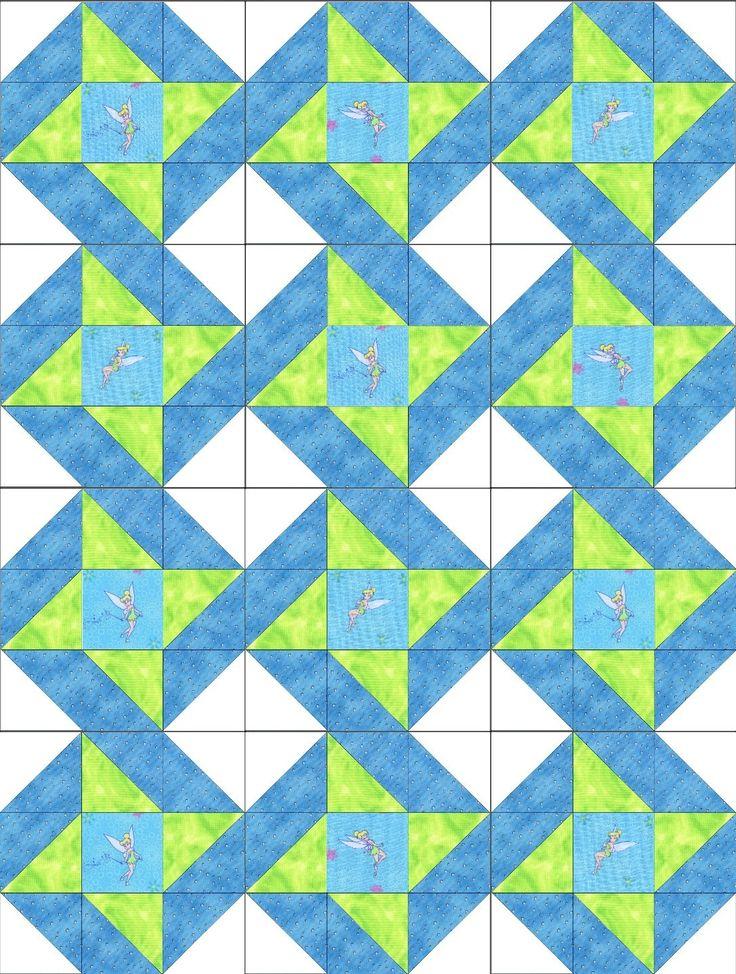 Pixie Blue Star Pre-Cut Quilt Blocks Kit