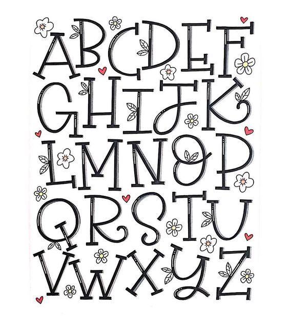 Sierlijk en lieflijk alfabet.