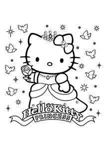 84 best hello kitty coloring pages images on Pinterest Drawings