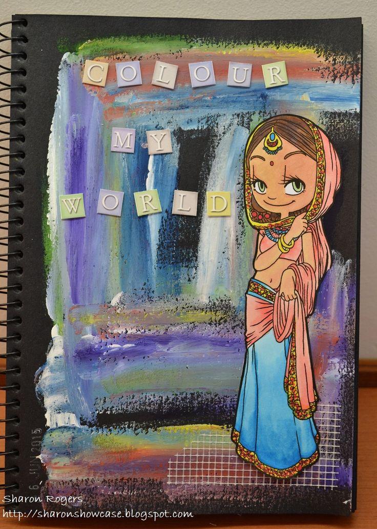 Journalling, Some Odd Girl, Watercolour Paint, Handmade, Journal, http://sharonshowcase.blogpsot.com