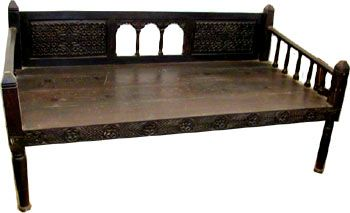 wooden day beds,wooden daybeds,indian wooden centre tables,carved daybeds,antique wooden daybeds,rajasthan wooden daybeds,iron wooden daybeds,indian wooden day beds