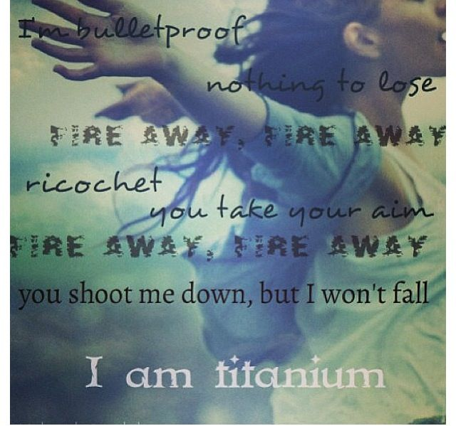 Shoot me down  but i wont fall i might break but i wont fall and let you hurt me