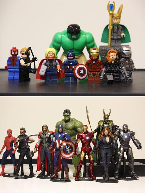 Lego Marvel Toys : Lego vs hot toys marvel comics pinterest