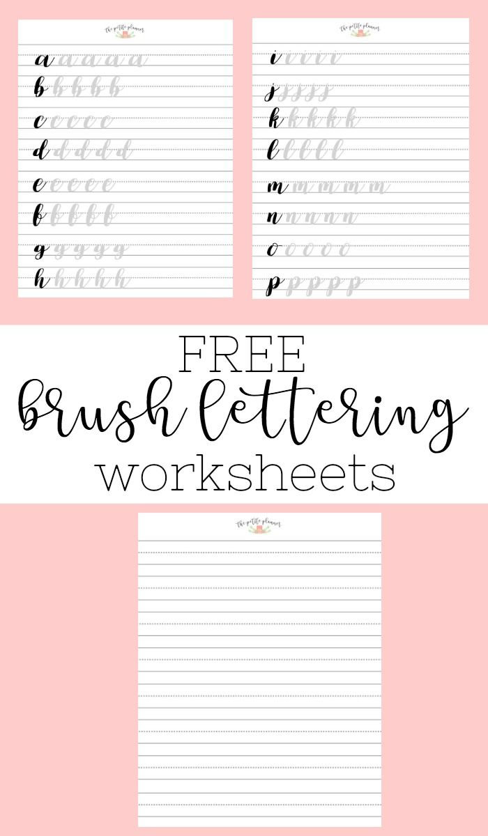Brush Lettering And Beyond Lettering Worksheets And Practice