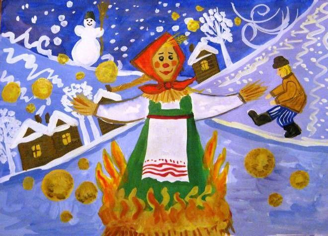 Картинки и рисунки детей «Масленица» :: Карточки и картинки для детей