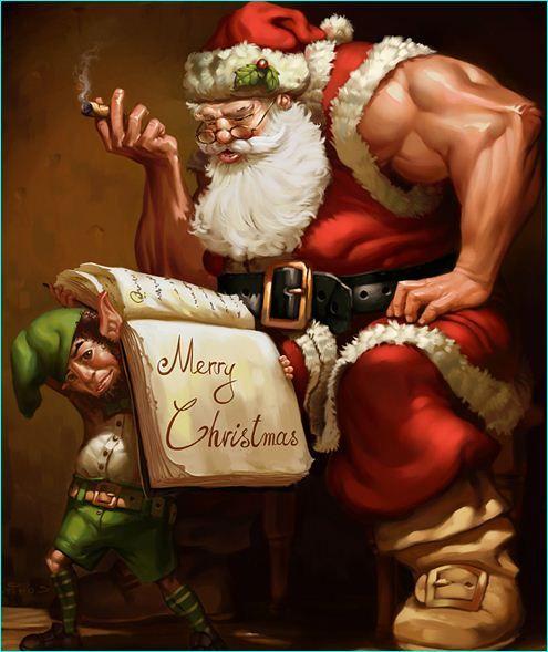 18 Creative Illustrations Of The Christmas Man: Santa Claus