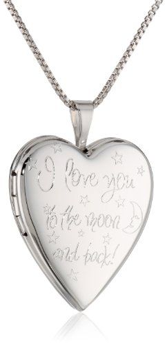 "Sterling Silver Engraved ""I Love You to the Moon and Back"" Heart Locket Necklace, 18"" Amazon Curated Collection http://www.amazon.com/dp/B00HZDA67W/ref=cm_sw_r_pi_dp_WcMCub1H9B0P4"