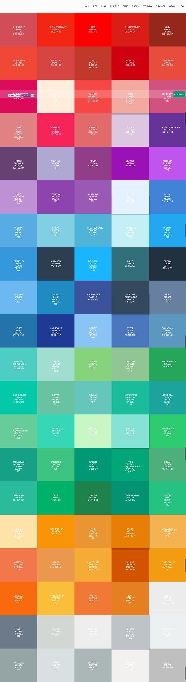 Flatuicolorpicker Best Flat Colors For Ui Design Colour