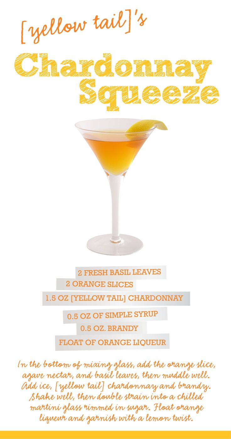 Try a [yellow tail] wine cocktail! Different - but yum!