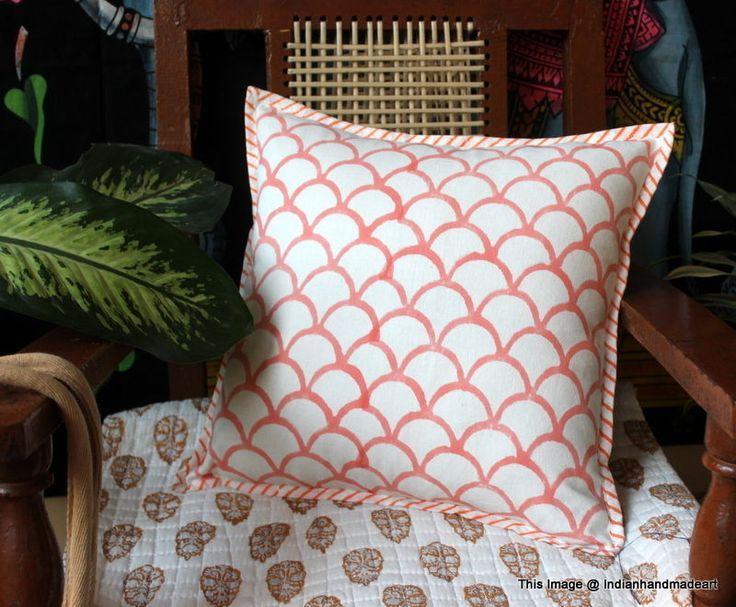 Indigo Blue Cushion Covers Fair Trade Handmade Indian Heavy Weight 100% Cotton10 #Handmade #Traditional #PillowCoverPillowShamCushionCover