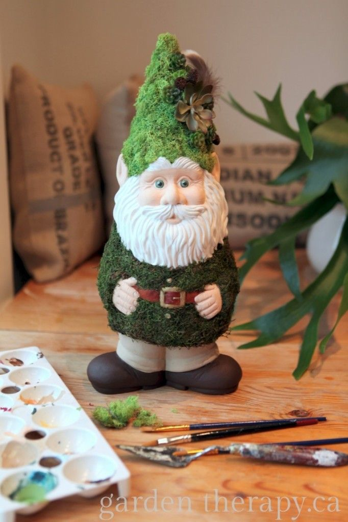 DIY Woody the Woodland Gnome with Moss Coat and Lichen Hat
